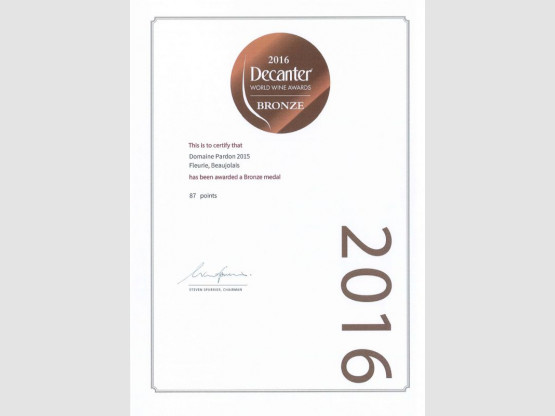 Deux médailles au DECANTER WOLRD WINE AWARDS 2016 !
